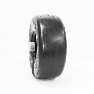 a black and silver ring