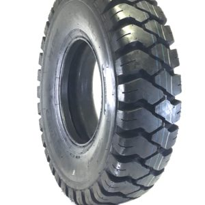 a black tire with a white background