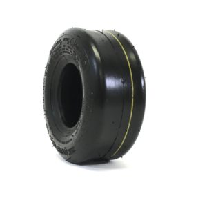 a black and yellow camera lens