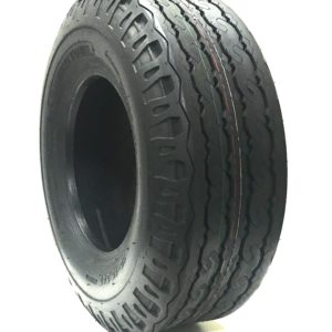 a silver and black tire
