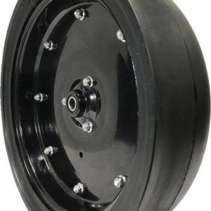 a black tire with a black rim